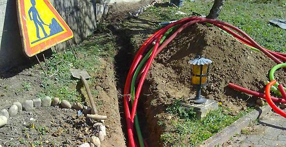 système tuyaux en souterrain